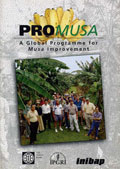 Cover of the proceedings:  First global ProMusa meeting Gosier, Guadeloupe / 5 + 9 March 1997
