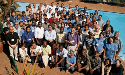 Photo of the participants to the ISHS/ProMusa Symposium held in White River, South Africa in 2007