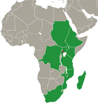 BARNESA map (Eastern and Southern Africa region)