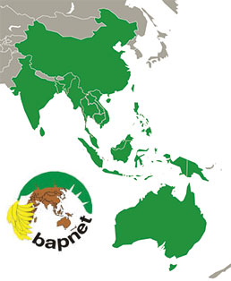 Bapnet map (Asia and Pacific region)