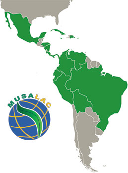 Musalac map (Latin America and the Caribbean region)